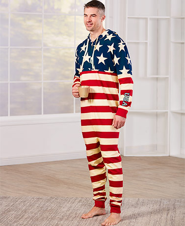 American Flag Loungewear - 1- Piece
