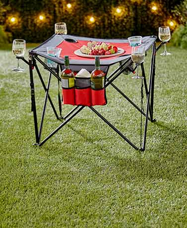 Creative Outdoor® Folding Portable Wine Table