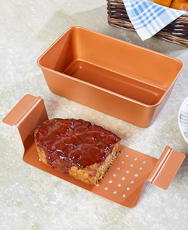 2-Pc. Copper Finish Meatloaf Pan