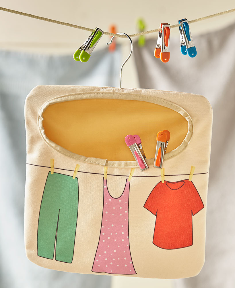 Clothespin Bags or Sets of 20 Clothespins with Hooks | The Lakeside ...