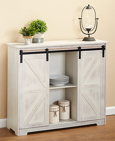 Barn Door-Style Buffet Cabinets