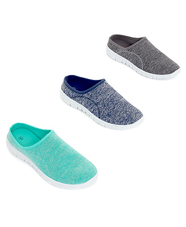 Memory Foam Open Back Sneakers
