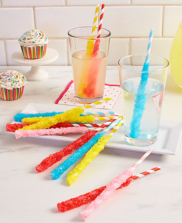 Set of 12 Crushed Candy Straws