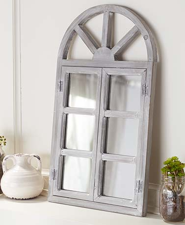 2-Ft. Arched Wood Mirrors