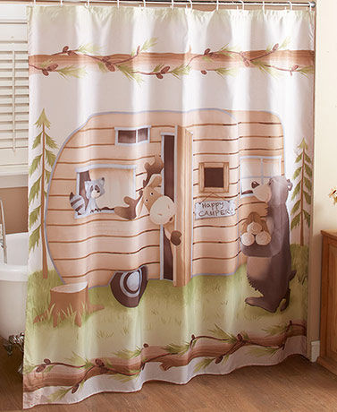 Woodsy Camper Shower Curtain