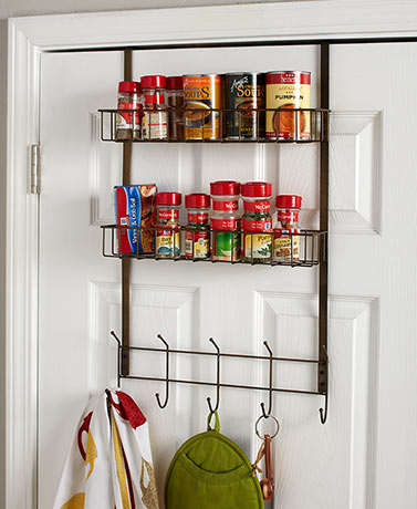 Over-the-Door Multi-Use Basket with Hooks