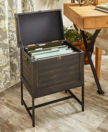 Trunk-Style File Storage Cabinets