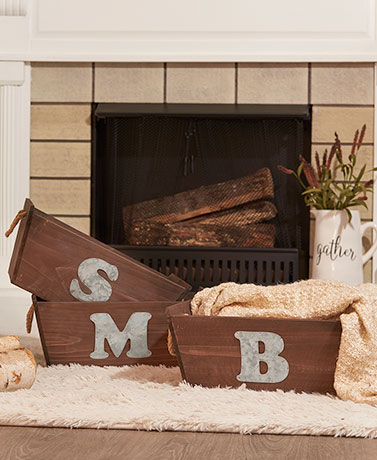 Rustic Country Monogram Storage
