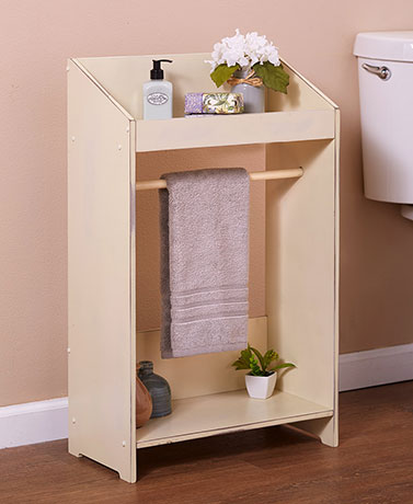 Country Accent Table with Towel Bar