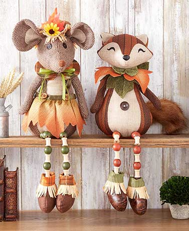 Harvest Fox or Mouse Shelf Sitters