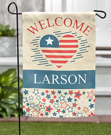 Americana Personalized Double-Sided Garden Flags