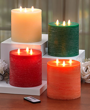 3-Wick LED Scented Candle with Remote