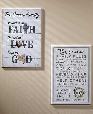 Rustic Personalized Family Wall Art