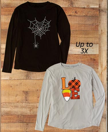 Halloween-Themed Knit Tops