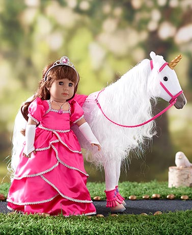 "18"" Doll Poseable Unicorn or Princess Outfit"