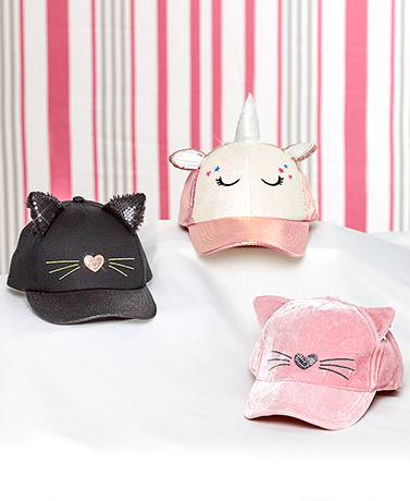 Girls' Novelty Baseball Hats