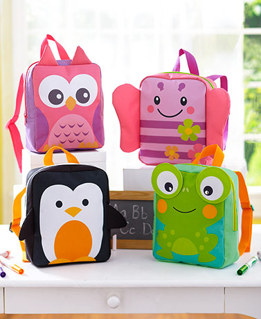 Kids' Critter Backpacks