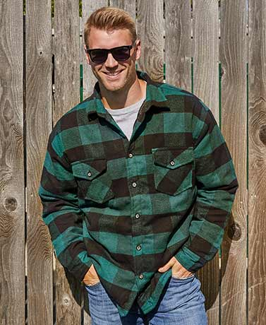 Men's Heavy Quilt-Lined Flannel Jackets