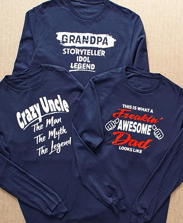 Dad, Grandpa or Uncle Long Sleeve T-Shirts