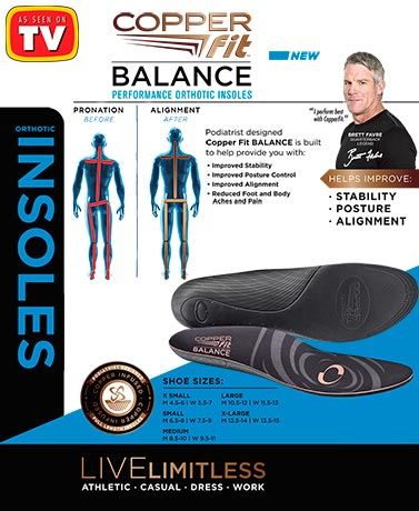 Copper Fit® Balance Orthotic Insoles