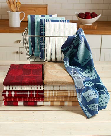 5-Pc. Oversized Woven Kitchen Towel Sets