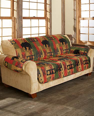 Dakota Lodge or Buffalo Check Furniture Covers