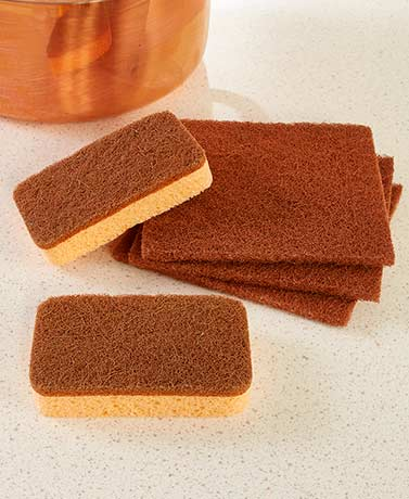5-Pc. Copper Sponges and Scouring Pads Set
