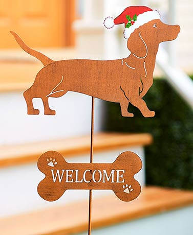 2-In-1 Rustic Dog Breed Holiday Stakes