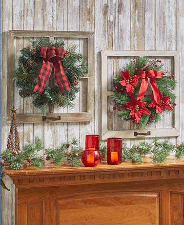 Window Pane Holiday Wreaths