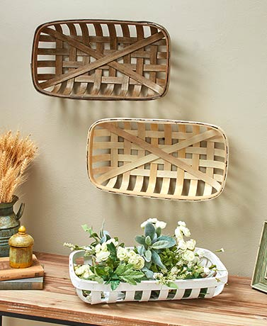 Wood Tobacco Baskets