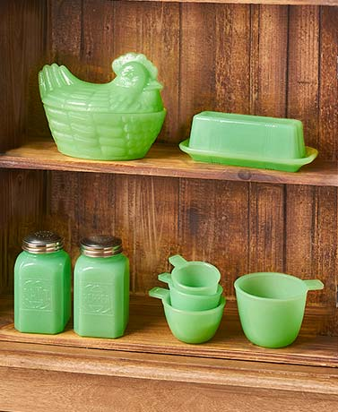Vintage Country Glass Kitchen Accents