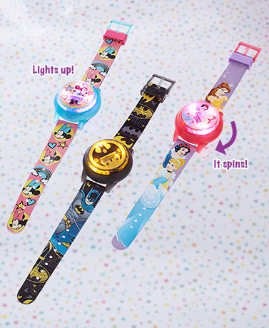 Kids' Licensed Light-Up Spinner Watches