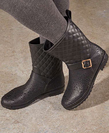 Women's Quilted Rain Boots