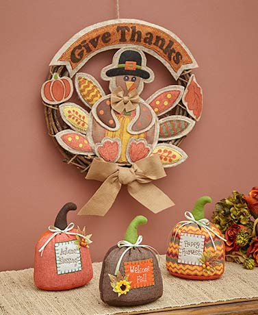 Give Thanks Harvest Decor