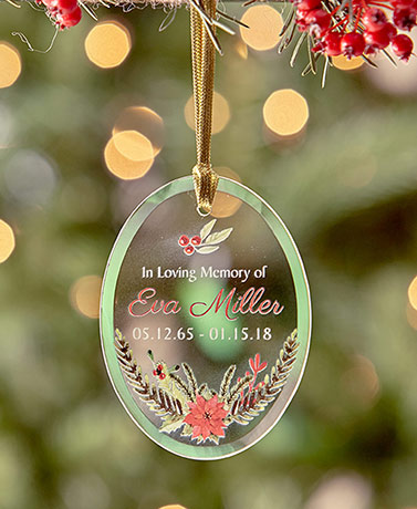 In Loving Memory Personalized Glass Ornaments