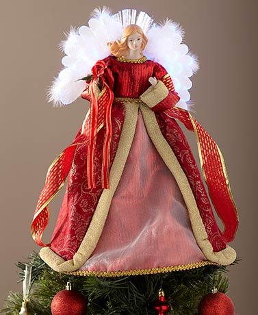 "16"" Fiber-Optic Lighted Angel Tree Topper"