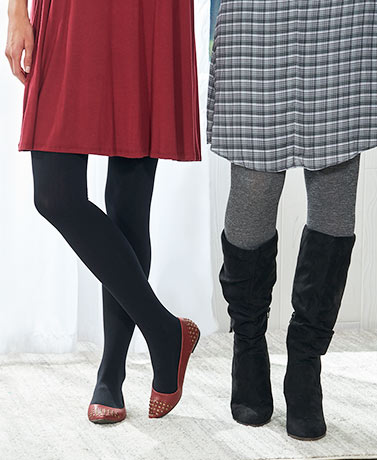 Sets of 2 Fleece-Lined Cozy Tights
