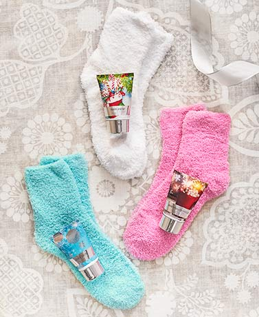 Holiday Cozy Sock and Lotion Gift Box Sets