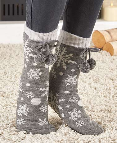 Sherpa-Lined Slipper Socks