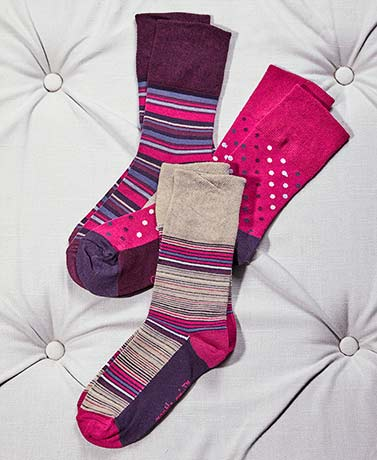 3-Pair Women's Gentle Grip® Socks