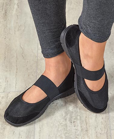 Women's Canvas Memory Foam Black Shoes