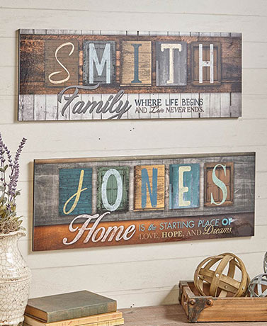 Personalized Sentiment Name Plaques