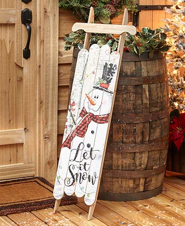 4-Ft. Decorative Holiday Sled