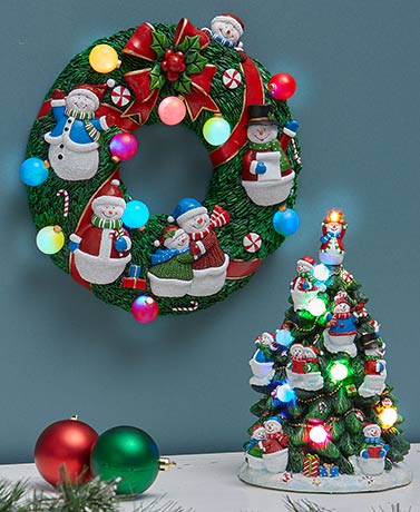 Lighted Holiday Snowman Decor