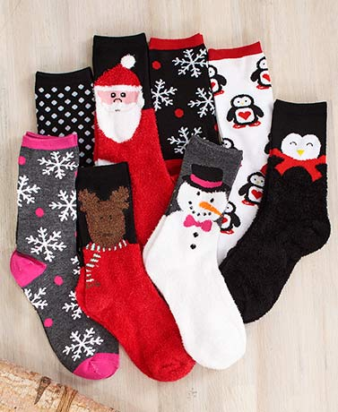 Holiday Fun 8-Pair Sock Set