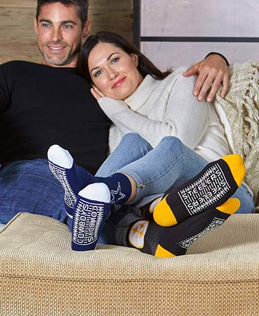 Unisex NFL Slipper Socks with Grippers