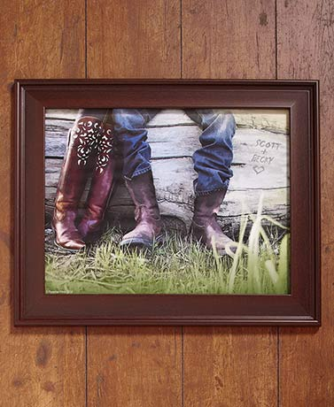 Personalized Cowboy Love Framed Art