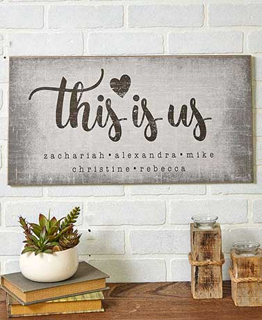 This is Us Personalized Plaque