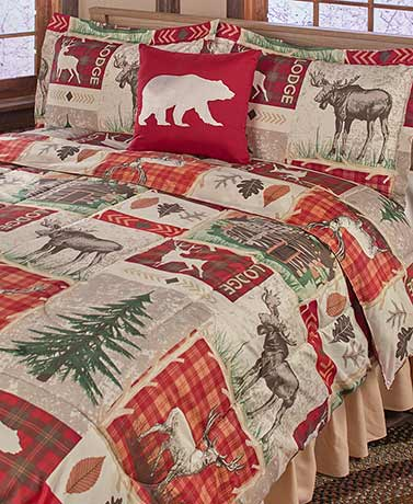 Lodge Collage Comforter Sets