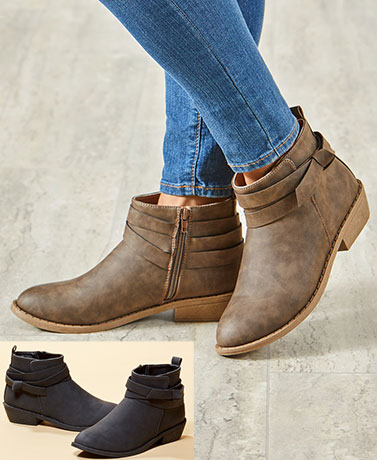 Women's Ankle Boots with Knot Detail